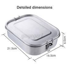 1400ML Brotdose  Lunchbox Bento Box Edelstahl Thermobehälter BPA Frei mit