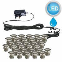 SET OF 30 - 30mm IP67 ROUND LED DECKING / GROUND / PLINTH LIGHT KIT
