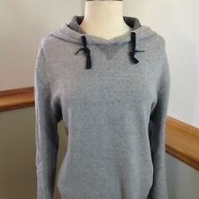 H&M L.O.G.G. Long Sleeve Pullover Gray Hooded Sweatshirt Hoodie Women's X-Large