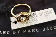 MARC BY MARC JACOBS Tiny Bolt Ring Gold Logo Size 6 New with Tags