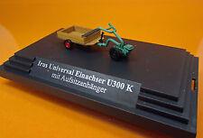 Busch 59912 Irus Universal Einachser U300 K mit Aufsitzanhänger Scale 1 87 NEU