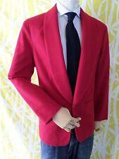 INTERNATIONAL MALE red wool shawl tuxedo formal blazer jacket MEDIUM