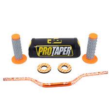 New CNC Handlebar Fat Bar Pad Protector Grip Donuts Handle Bar Rubber Dirt Bike
