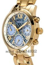 AUTHENTIC GUESS SUNRISE WATCH GOLD TONE RRP:$389 W0330L13 NEW LITTLE DENTS