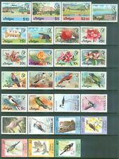 ANTIGUA : Bird Topical. Collection of 5 Complete sets + 4 S/S. VF MOGH. Cat $89