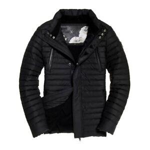 "New Mens Superdry Rain Racer Jacket Black Size: L 40"" (102cm) RRP £119.99"