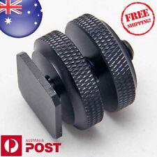 "1/4""- 20 Tripod Screw - Flash Camera Hot Shoe Mount Adapter Aluminium Metal Z237"