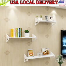 Set of 3 Wall Floating Shelves Mount Shelf Display Storage Organizer Home Decor