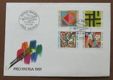"""Schweiz 1991, FDC m. Mi. 1446/49, """"700 Jahre Kunst"""""""