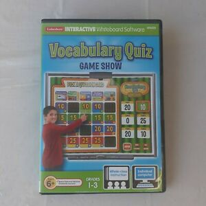 Vocabulary Quiz Game Show DVD Lakshore Interactive Whiteboard Grade 1-3 PC MAC