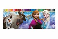 Disney Frozen Elsa Anna '50 Piece' Colouring Pencils Tin Case Stationery Gift