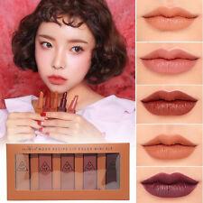 5pcs Pumpkin Color Matte Lipstick Lipstick Waterproof Lip Stick Makeup 2017