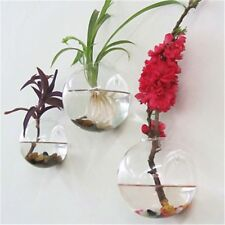 Semicircular Glass Vase Wall Hanging Terrarium Tanks Potted Plant Flower Decor