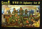 Caesar Miniatures 1/72 U.S. WORLD WAR II INFANTRY Set #2 Figure Set