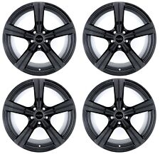 18x8 Kudo Racing Raiden 5x114.3 +40mm Gloss Black Wheels Rims New Set(4)