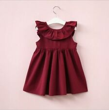 Baby Girl Kids Backless Dress Clothes Toddler Princess Party Summer Outfit Tops