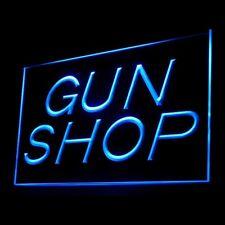 200036 Gun Shop Weapon Machine Gun Monitoring Paintball Military LED Light Sign