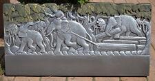 Edge Stone Mold Elephant Border Mould ABS Plastic Concrete Cement FENCE #BR13