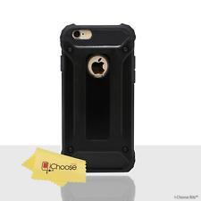 Noir Antichoc Coque pour Apple iPhone 6 6s 4.7 Pouce Protecteur D'écran Hybride