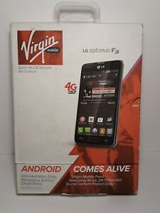 NEW LG Optimus F3 VM720 Titanium Silver LOCKED to Virgin Mobile Plan phone. B6