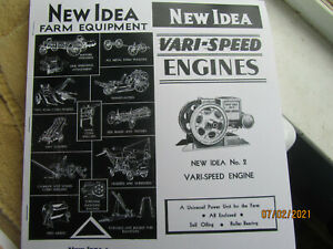 New Idea 1 1/2 to 2 1/2HP gas engine sales flyer