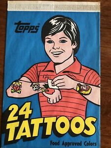 Topps Tattoos - 1981 - Single Unopened Pack - 24 Tattoos