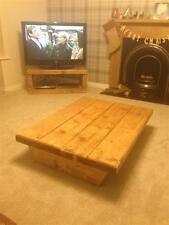 STUNNING !! CHUNKY,RUSTIC STYLE COFFEE TABLE USING 3 INCH THICK TIMBER