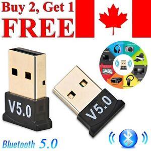 USB Bluetooth 5.0 Adapter Wireless Dongle High Speed CSR for PC Windows Computer