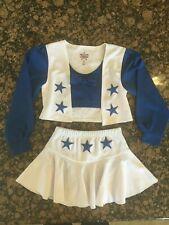 Official Dallas Cowboys Cheerleaders Toddlers 2-Piece Costume Dress Sz L (12-14)