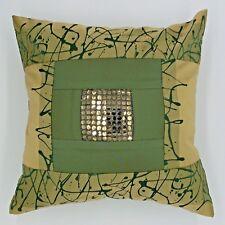 "2pcs/lot 16x16""40x40cm throw pillow cover cushion case green gold jacquard"