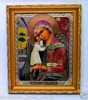 Ikone Beitreibung Gefallenen икона Богородица Взыскание погибших 20,5x18x1,7 cm