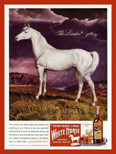 White Horse cellar scotch whiskey advertisement reproduction metal sign