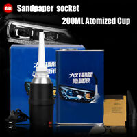 Premium Headlight Lens Restoration Kit polishing Atomized cup Tool Kit