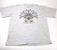 Vintage Durango Colorado Shirt Navajo Painting Graphic 1994 Gray T-Shirt 2XL