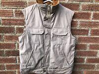 Woolrich Men's Multi Pocket Sleeveless Jacket in Beige - Size Medium