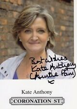 KATE ANTHONY AUTOGRAPH CORONATION ST SOAPS