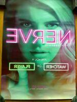 NERVE ORIGINAL NEW 2016 PROMO MOVIE POSTER 13.5x20 with Emma Roberts