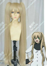 Kekkai Sensen Flaxen Blonde Cosplay Party Wig Hair Clip Ponytail