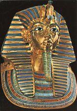 Alte Kunstpostkarte - Tutankhamen's Treasures -Gold funerary mask of Tutankhamen