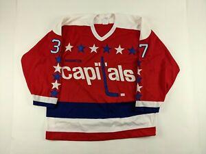 1989-90 BRIAN TUTT Washington Capitals GAME USED Jersey #37 NHL