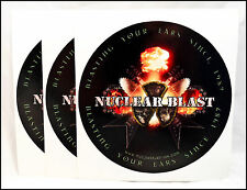 Nuclear Blast ot Of 3 2005 Promo Stickers / Blasting Your Ears Since 1987
