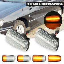 2PCS Dynamic  LED SIDE INDICATORS LIGHT For PEUGEOT 106 306 806 EXPERT PARTNER