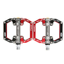 ROCKBROS Bike Bicycle Pedals Cycling Sealed Bearing Pedals Black Red