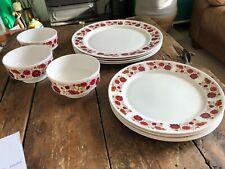 More details for retro ridgway bone china carissima plates, bowls