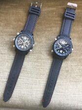 2 Stück Technaxx Uhr Armbanduhr mit integrierter Kamera Voice Video 4GB Spycam