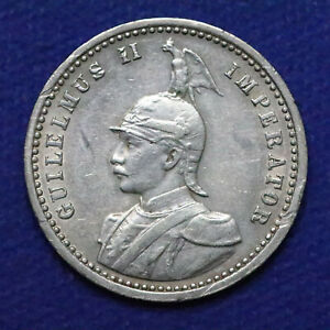 1913-A German Empire East Africa Silver 1/4 Rupie. AU-UNC. - 788