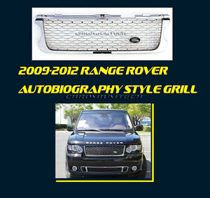 09-12 Range Rover Vogue Autobiography Type CHROME/SILVER Grill WITHOUT Badge