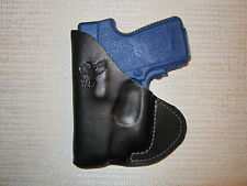 Kahr p380 with Crimson Trace laser, leather pocket holster
