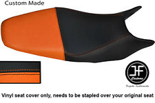 Negro y Naranja Personalizado de vinilo cabe HONDA HORNET CB 600 98-01 Dual Cubierta de asiento solamente