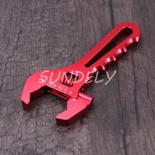 3AN-16AN Adjustable Spanner Aluminum Anodized Wrench Fitting Tools Red AU